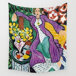 Woman in a Purple Coat 1937 by Henri Matisse, Artwork Design, Poster Tshirt, Tee, Jersey, Postcard Wall Tapestry