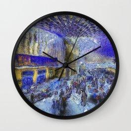 Kings Cross Station Van Gogh Wall Clock
