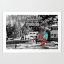Unseen Monsters of Mount Shasta - Ukelt Anzilk Art Print