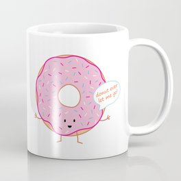 Pink Donut   queenie's cards Coffee Mug