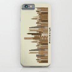 Pittsburgh skyline vintage iPhone 6 Slim Case