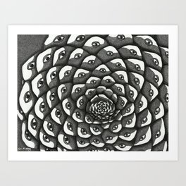 Cosmosis Pine Cone Art Print