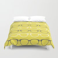 glasses Duvet Covers featuring Glasses by C Designz