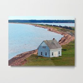 Beach and Causeway, seen from Above Metal Print
