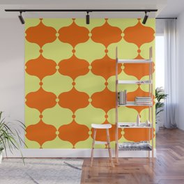 burnt orange and butter clown onions Wall Mural