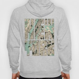 New York City Map of the United States - Vintage Hoody