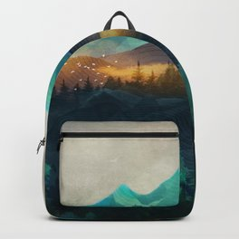 Green Wild Mountainside Backpack