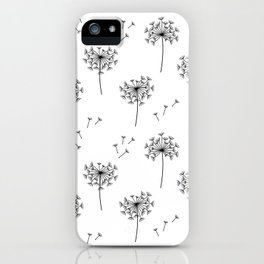 Dandelions in Black iPhone Case