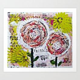 Mixed Media Art: Faith Art Print