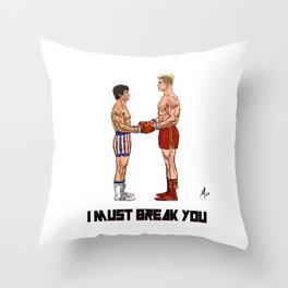 Fight of the Century Throw Pillow
