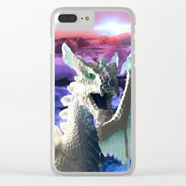 Ice Dragon Clear iPhone Case