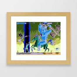 Princess Planet Boss Battle 9 - Battlebarian Framed Art Print