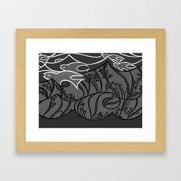 Seacure BW Framed Art Print