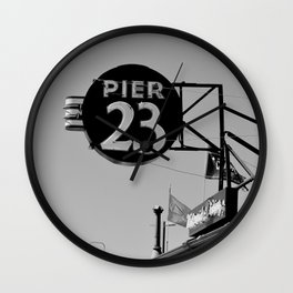 Pier 23 Sign Wall Clock