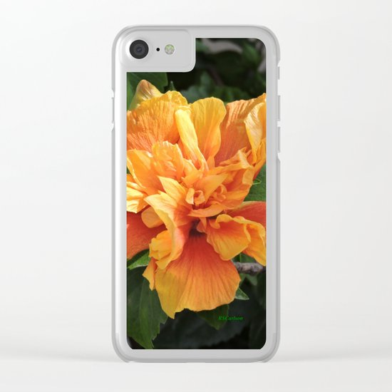The Golden Double Hibiscus Next Door Clear iPhone Case