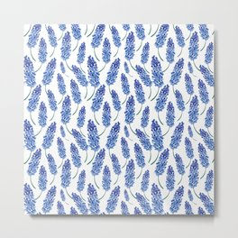 Watercolor blue field Metal Print