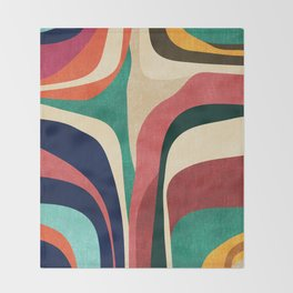 Impossible contour map Throw Blanket