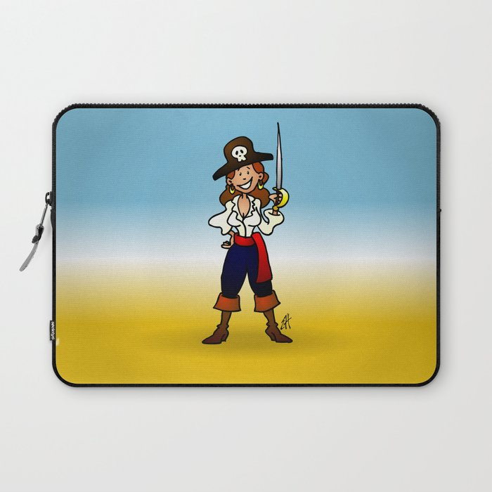 Pirate Girl Laptop Sleeve