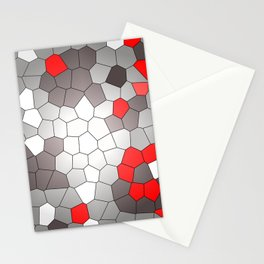Mosaik grey white red Graphic Stationery Cards