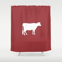Cow: Barn Red Shower Curtain