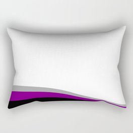 Asexual Pride Minimalist Curved Layers Design Rectangular Pillow