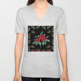 Floral background Unisex V-Neck