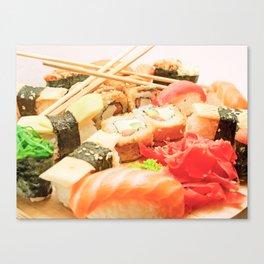 sushi rolls Canvas Print
