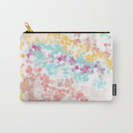 Modern abstract pink coral teal watercolor bokeh pattern Carry-All Pouch