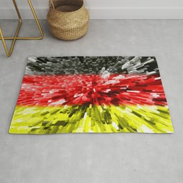 Extruded Flag of Germany Rug