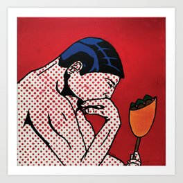 Philosophical Falafel Popsical Acrylic Paint Art Print
