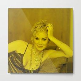 Sharon Stone - Celebrity (Photographic Art) Metal Print