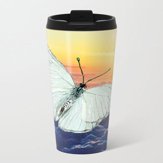 Angel Butterfly Metal Travel Mug