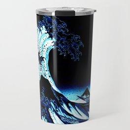 the Great Wave Blue Travel Mug