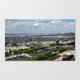Paris Skyline with Monmarte and The Seine  Canvas Print
