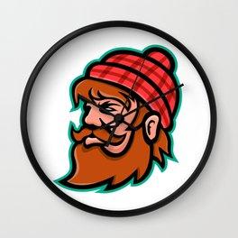 Paul Bunyan Lumberjack Mascot Wall Clock