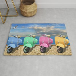 Scooter in bright colors Rug