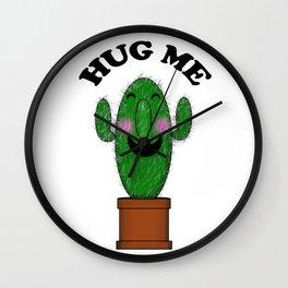 Hug Me Cactus Wall Clock