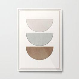 Minimal Geometric 127 Metal Print
