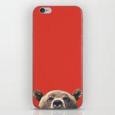 Bear - Red iPhone & iPod Skin