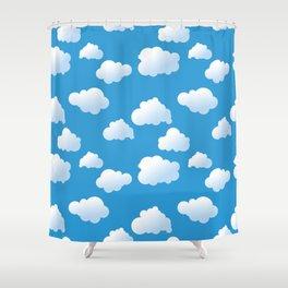 Cartoon clouds pattern Shower Curtain