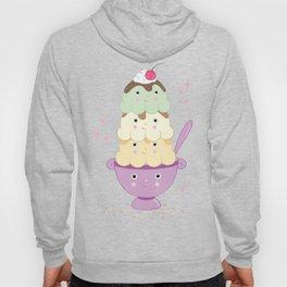 Cute Ice Cream Sundae Hoody