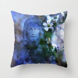 Jesus Christ In The Garden By Annie Zeno Throw Pillow