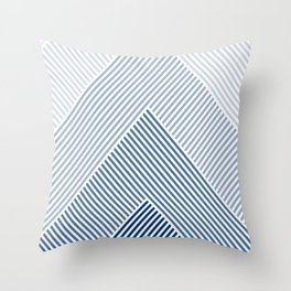 Shades of Blue Abstract geometric pattern Throw Pillow