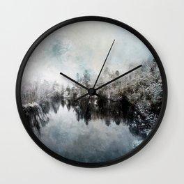 Winter on the Menominee Wall Clock