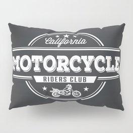 California Motorocylce Riders Club on Grey Pillow Sham
