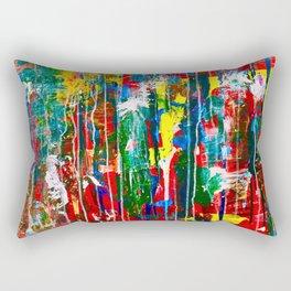 Abstract Paint Drips Rectangular Pillow