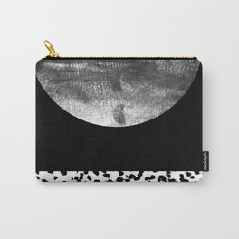 Maru - moon abstract painting texture black and white monochromatic urban brooklyn nature city Carry-All Pouch