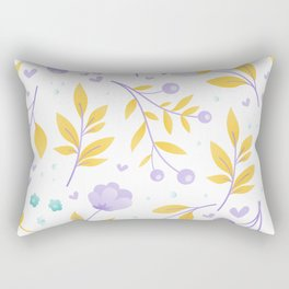 teal and purple flowers Rectangular Pillow