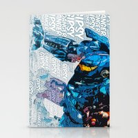 pacific rim Stationery Cards featuring Pacific Rim: Gipsy Danger by Bolin Cradley Art