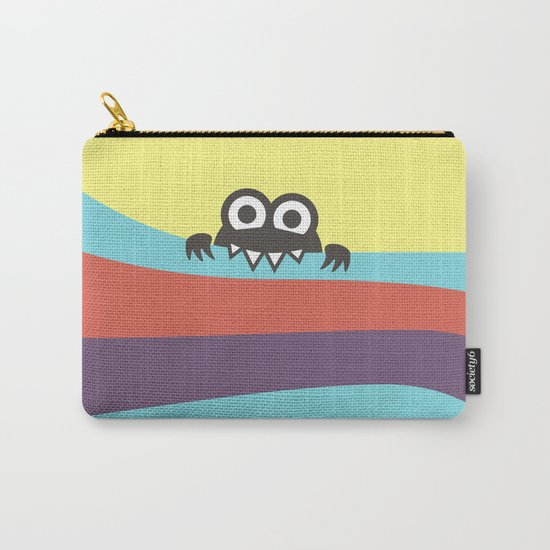 Yummy Colorful Stripes Cute Cartoon Character Carry-All Pouch